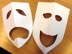 comedy and tragedy for mardi gras masks Comedy Tragedy Masks, Greek Crafts, Drama Masks, Greece Art, Crafts For Kids, Arts And Crafts, Greek Pottery, Masks Art, Art Lessons Elementary