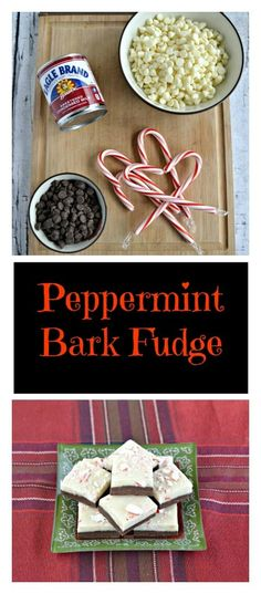 Peppermint Bark Fudge Looking for a tasty and easy to make dessert? Try this double layer Peppermint Bark Fudge! Easy To Make Desserts, How To Make Cookies, Delicious Desserts, Yummy Food, Candy Recipes, Fudge Recipes, Yummy Recipes, Dessert Recipes, Holiday Baking