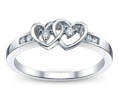 Double heart promise ring.