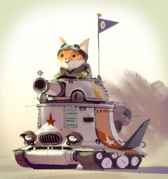 cat in tank - by Mike Yamada - a visual development artist currently working at Walt Disney Animation Studios. Mike has worked on animated films such as The Croods, Puss in Boots, Kung Fu Panda How to Train your Dragon and Monsters vs Aliens. Character Concept, Character Art, Monsters Vs Aliens, Concept Art World, Walt Disney Animation Studios, 3d Max, Character Design References, Cute Characters, Character Design Inspiration