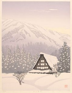 "Shufu Miyamoto, ""Snow at Takayama"""