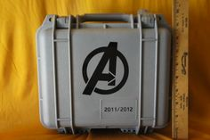 """"""" This Pelican case was especially ordered by Robert Downey Jr. to give out to the cast and crew of The Avengers as a present/memento after filming wrapped. Around 200 or so of these cases were. China Movie, Pelican Case, Avengers Movies, Retro Christmas, Robert Downey Jr, Vintage Toys, It Cast, Top View, The Originals"""