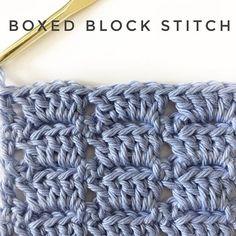 Crochet Boxed Block Stitch - Daisy Farm Crafts Instagram