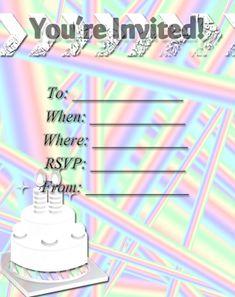 Rainbow Stripes Party Invitation Free Printable Invitations, Party Printables, Party Invitations, Free Printables, Invite Your Friends, Youre Invited, Sign I, Rsvp, Stripes