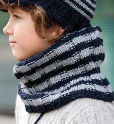 modele tricot snood garcon