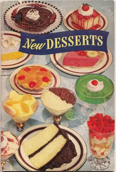 Jello New Desserts recipe book