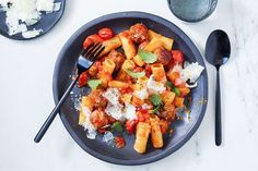 """All the flavours of Spain in a pasta. You could throw in calamari or mussels, too"" - Matt Preston. Sausage Recipes, Pasta Recipes, New Recipes, Cooking Recipes, Healthy Recipes, Simple Recipes, Healthy Food, How To Cook Leeks, How To Cook Pasta"