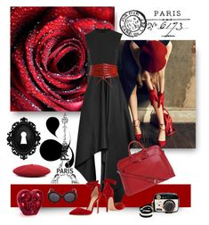 """We Love You PARIS"" by jacque-reid ❤ liked on Polyvore featuring Tim Holtz, Solace, Gianvito Rossi, Gucci, Lodis, Alaïa, Alexander McQueen, Betsey Johnson and Lalique"
