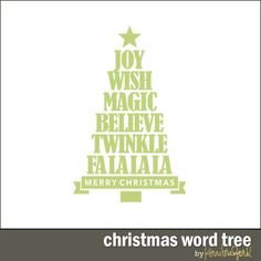 Christmas Word Tree