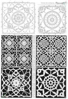 Transcendent Crochet a Solid Granny Square Ideas. Inconceivable Crochet a Solid Granny Square Ideas. Crochet Motif Patterns, Crochet Blocks, Granny Square Crochet Pattern, Crochet Diagram, Crochet Chart, Crochet Squares, Thread Crochet, Crochet Bedspread, Crochet Tablecloth