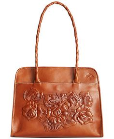 Love this!!!!  (Patricia Nash Large Tooled Rose Paris Satchel)