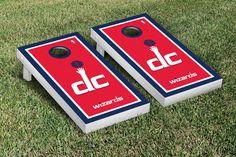 Our Washington Wizards Cornhole Game Set Border Version. Get your custom set at victorytailgate.com