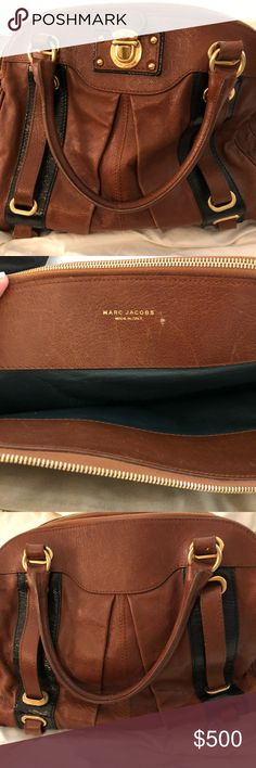 Marc Jacobs brown bag with buckles Marc Jacobs brown bag with buckles originally purchased for 1200. In good condition. Marc Jacobs Bags Totes