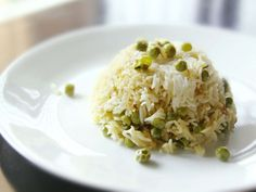 Basmati Rice and Pea Pilaf (Peas Pulao) - I'm going to add some saffron for color and flavor