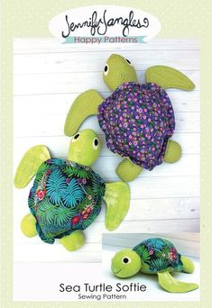 Sea Turtle Softie PDF Sewing Pattern - Jennifer Jangles