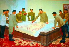 Kim Il-Sung planning for the North Korean war strategy