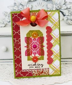 Wishing You Well Card by Melissa Phillips for Papertrey Ink (June 2012)
