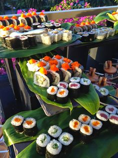 Delight your guests with a fresh sushi station at your #TrumpWaikiki wedding reception. #WeddingWednesday #Sushi #Events #Catering #Waikiki #Yum #Romance
