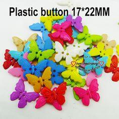 Plastic buttons (butterflies), 17*12mm, 100 pcs Пластиковые пуговицы (бабочки), 17*12 мм, 100 шт