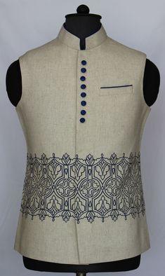 Indian Men Fashion, Mens Fashion Wear, Suit Fashion, Designer Suits For Men, Designer Clothes For Men, Gents Coat, Mens Knitted Cardigan, Mens Ethnic Wear, Mens Sherwani