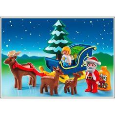 Playmobil 1.2.3 #6787 - Santa Claus with Reindeer Sleigh