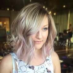 Throwback to ribbons of pastel pink I mixed joico soft pink and diluted with Olaplex no. 2  #modernsalon