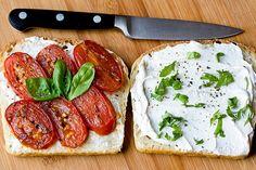 tomato basil sandwiches