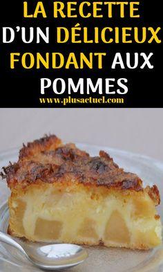 LA RECETTE D'UN DÉLICIEUX FONDANT AUX POMMES #recette #naturels #pommes