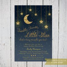 Twinkle Twinkle Little Star Baby Shower by PocketFullofPixels, $13.50-custom made for third birthday