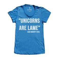 Skip N' Whistle: Unicorns Tee Men's Blue, at 18% off!