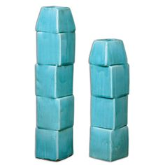 Uttermost Nilima Ceramic Vases, S/2 19891