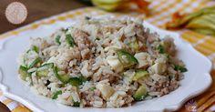 Riso mozzarella zucchine e tonno facile da preparare, veloce, perfetto per il mare, da portare in ufficio o in gita.Facilissimo.