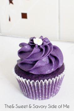 Purple Yam Cupcakes. This recipe used ube powder instead of fresh ube.