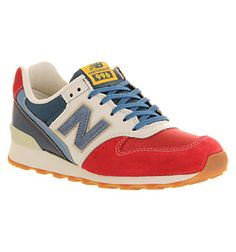New Balance Wr996 Red Blue White - Hers trainers. Size 9 please, sweetheart? :)