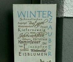 Holzschild Deko Schild Winter shabby chic  BHT: ca 19*35*12cm  Dekoration auf Anfrage  Versand 5,00€,Holzschild Deko Schild Winter shabby chic in Hessen - Eschenburg
