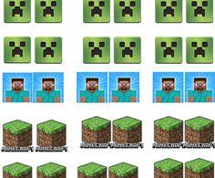 Minecraft Cupcake Toppers  Printable by JustPrintIt on Etsy, $3.00