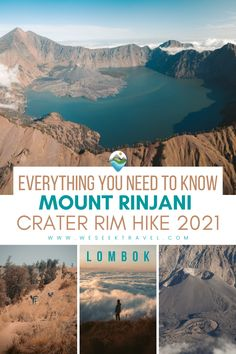 A complete guide to the Mount Rinjani Crater Rim Hike on the incredible island of Lombok. From booking a guide, thoughts on independent hiking, and what to expect from this epic adventure. Usa Travel Guide, Asia Travel, Travel Usa, Travel Guides, Travel Tips, Hiking Guide, Go Hiking, Bucket List Destinations, Travel Destinations