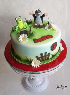 Choco corpus, mascarpone flavoured with egg liqueur, bananas Cake Decorating Piping, Frog Cakes, Round Cakes, Design Tutorials, Cake Recipes, Birthdays, Banana, Kids, Toothless