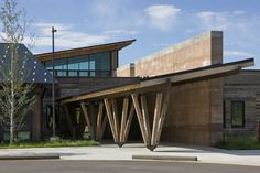 Teton County Children's Learning Center / Ward+Blake Architects + withD.W. Arthur Associates Architecture, Inc. #wood #rammedearth #columns