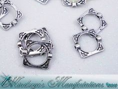 50 Antq Silver Finish Square Bead Frames 14x16mm. Starting at $5 on Tophatter.com!
