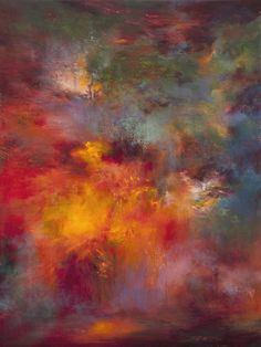 """Saatchi Online Artist: Rikka Ayasaki; Acrylic, Painting """"Passions, Boulogne forest 7008-B"""""""