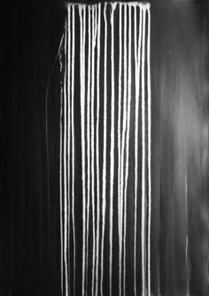 """A1 Contemporary Modern Abstract Black and White Ink Wash Painting 23.4x33.1""""…"""
