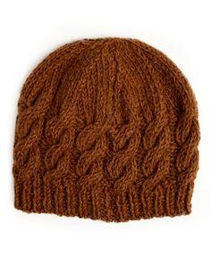 Cable Beanie knitting pattern: British alpaca wool yarn cable beanie knitting kit - free pattern