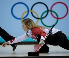 Photos of Team Canada from the 2014 Winter Olympic Games in Sochi, Russia. Winter Olympic Games, Winter Olympics, Olympic Curling, Women's Curling, Curls, Shots, Action, Group Action, Hair Weaves