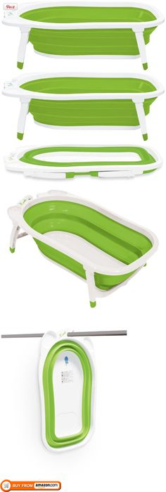 Karibu Baby Folding Bath, Green/White, Karibu Folding Bath is designed to store away easily to save space at home and for travel. The fold away design makes storage easy without compromising a full size tub for your child. The extra leg su..., #Baby, #Baby Bath, $39.99