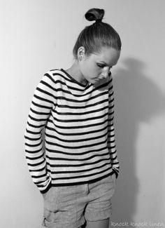 Nautical French Style Sweater by KnockKnockLinen on Etsy