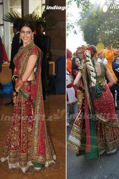 Indian Bridal Inspiration (Original Images: Indiaglitz).  Visit http://www.modernrani.com