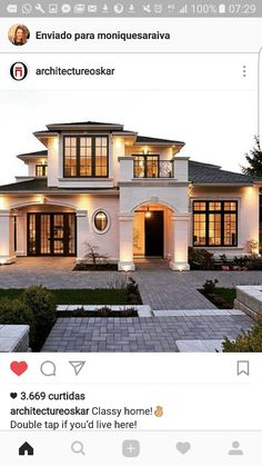 23 Best Modern Mediterranean Homes - For the Home - 23 Best Modern Mediterrane. - 23 Best Modern Mediterranean Homes – For the Home – 23 Best Modern Mediterranean Homes – - Style At Home, Modern Mediterranean Homes, Mediterranean Architecture, Modern Homes, Tuscan Homes, Dream House Exterior, Big Houses Exterior, House Goals, Home Fashion