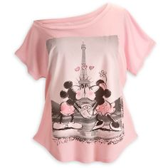 Becky Lennox-Dias you NEED this one!!  Mickey and Minnie Mouse Off the Shoulder Tee for Women