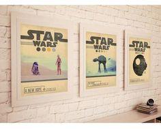 STAR WARS TRILOGY Episode 4  5  6 Movie Set Posters  von POTAPOTA